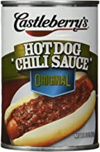 Castleberry's, Hot Dog Chili Sauce, Classic, 10oz Can (Pack of 6)