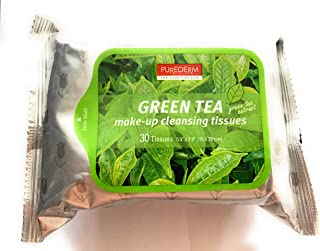 Purederm Green Tea Extract Makeup Cleansing 30 Tissues - Pack of 1