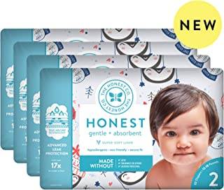 The Honest Company The honest company baby diapers with trueabsorb technology, winter wonder, size 2, 128 count, Winter Wonder, Size 2, 128 Count