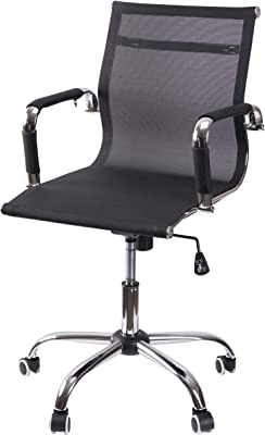 Bold Tones Mesh Swivel Office Chair with Adjustable Height and Casters (Black)