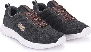 Action Shoes Women's Grey Running Shoes  - 6 UK (38EU) (ATL-09-GREY-ORANGE)