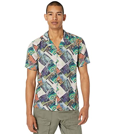 NATIVE YOUTH Short Sleeve Shirt in Igne Print with Revere Collar