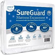 Twin XL (13-16 in. Deep) SureGuard Mattress Encasement - 100% Waterproof, Bed Bug Proof, Hypoallergenic - Premium Zippered Six-Sided Cover - 10 Year Warranty