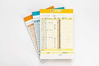 """Ultimate Baby Tracker Notepad™ 3 PACK (Multi-color 6"""" x 9"""") for Tracking Infant and Newborn Sleep Schedules, Diaper Change..."""