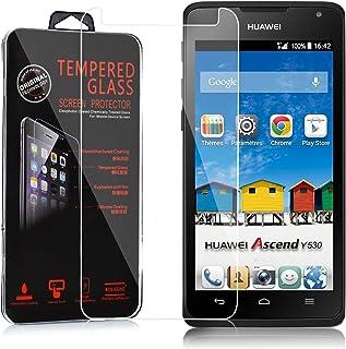 Cadorabo Película Protectora para Huawei Ascend Y530 en Transparencia ELEVADA - Vidrio Templado (Tempered) Cristal Antibal...