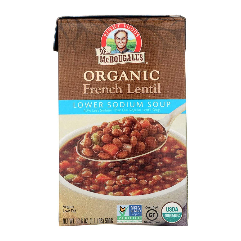Dr Mcdougalls Soup French Lentil Max 52% OFF Sodium Organic Elegant Lower 18 Ounce