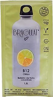 BRAGULAT | Zumo Concentrado B12 Citrics | Bebidas y Refrescos Instantáneas en Polvo | Sin Azúcar y con Vitamina C y B12 | Agua con Sabor a Limón, Naranja y Lima | 15 Sobres