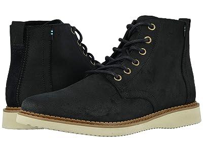 TOMS Porter Water-Resistant Boot (Black Waxy Suede) Men