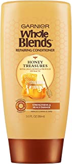 Garnier Whole Blends Repairing Conditioner Honey Treasures, for Damaged Hair, 3 Fl. Oz