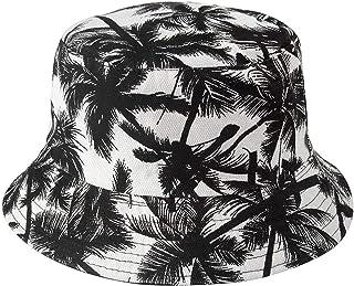 Achket القبعات دلو عكس جوز الهند أنبوب جوز الهند قبعة على كلا الجانبين للجنسين المطبوعة قبعة السيدات الرجال قبعة الصيف الص...