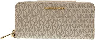 Michael Kors Jet Set Women's Leather Travel Continental Wristlet Wallet