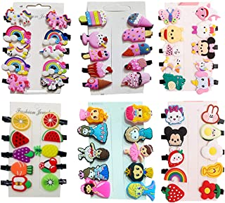 MANODHRUVA 10 Clips Mix Designs Girlish Hair Clips Set Baby Hairpin for Kids Girls Toddler Barrettes Hair Accessories, Tot...
