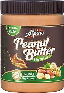 Alpino Natural Peanut Butter Crunch 400 G (Unsweetened / Gluten Free / Non-GMO / Vegan)
