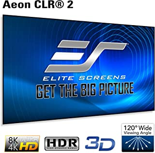 Elite Screens Aeon CLR 2 Series, 103-inch 16:9 Edge Free Ambient Light Rejecting Fixed Frame Projector Screen, Ceiling Light Rejecting Projection Material for Short and Ultra Short Throw
