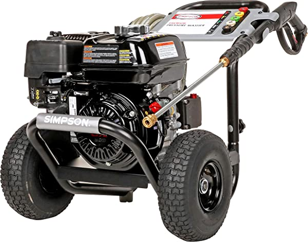 SIMPSON Cleaning PS3228 PowerShot Gas Pressure Washer Powered By Honda GX200 3300 PSI At 2 5 GPM Black