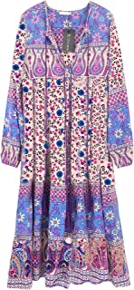 Best floral cotton dresses with sleeves Reviews