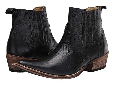 Massimo Matteo El Padrino Pointy Toe Boot (Black Leather) Men