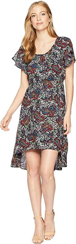 1/2 Cap Sleeve Round Neck Dress