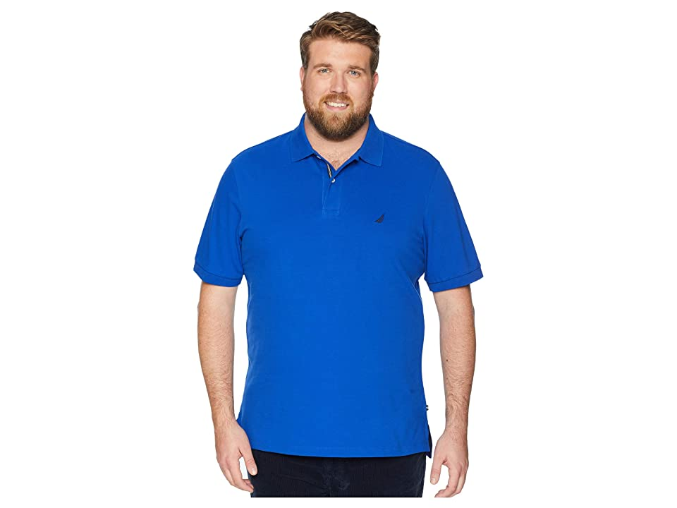 Nautica Big & Tall Big Tall Short Sleeve Solid Deck Shirt (Bright Cobalt) Men