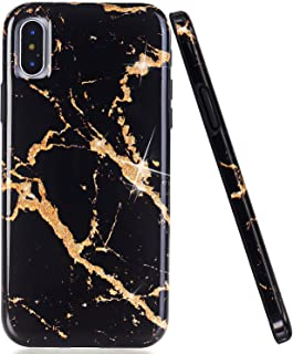 Best black and gold marble iphone x case Reviews