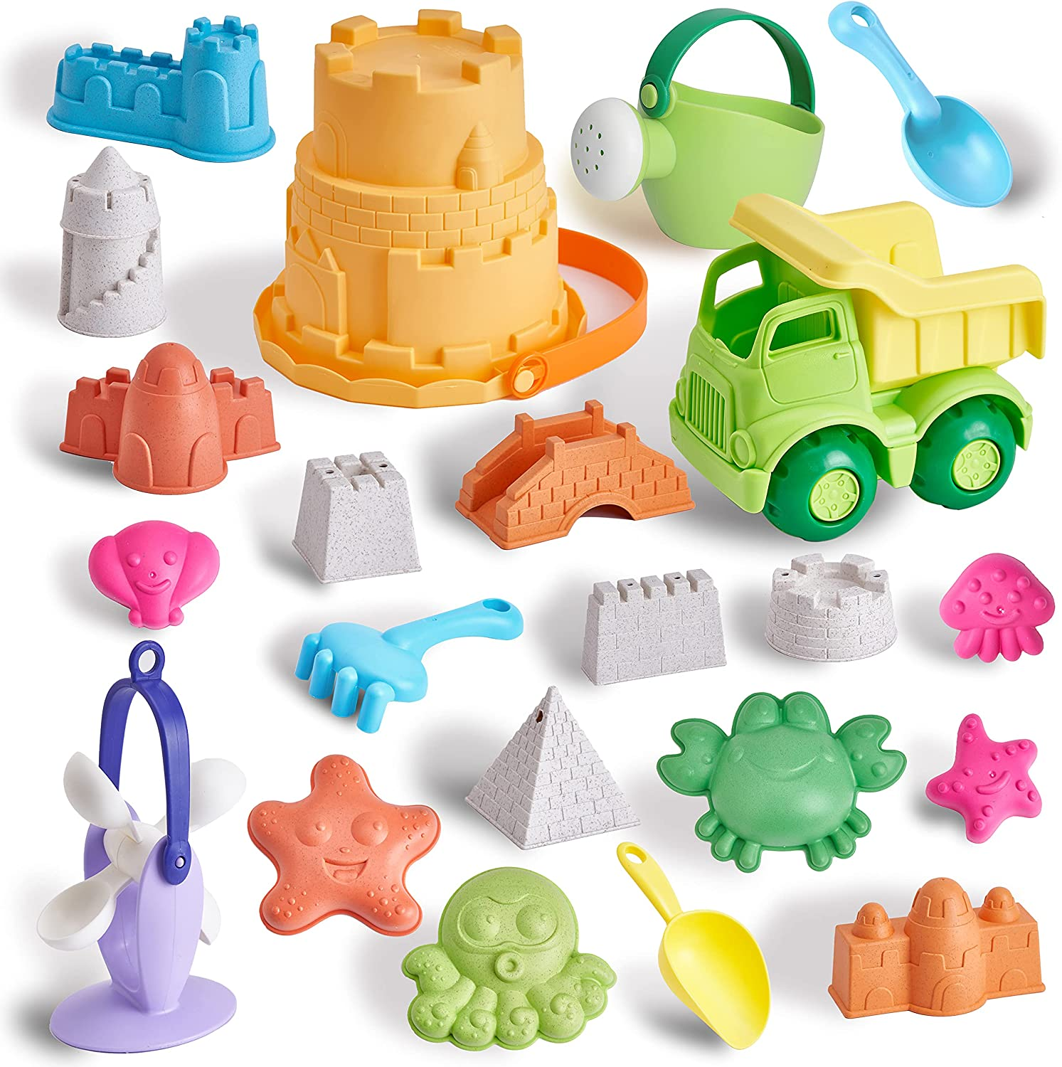T.G.Y Beach Sand Toys 23 Pieces for Castle K Toy Free shipping Kids New Free Shipping Set