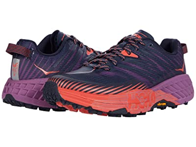 Hoka One One Speedgoat 4 (Outer Space/Hot Coral) Women