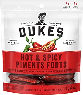 DUKE's Smoked Shorty Sausages - Hot & Spicy (Pack of 8)