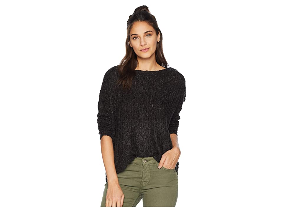 Jack by BB Dakota Level Up Buttoned Drop Shoulder Sweater (Black) Women