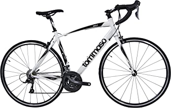 Tommaso Imola Endurance Aluminum Road Bike, Shimano Claris R2000, 24 Speeds, Black,..