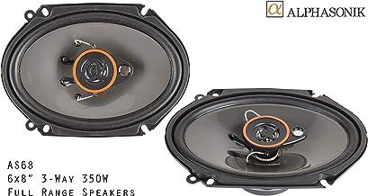 Alphasonik AS68 6×8 inch 350 Watts Max 3-Way Car Audio Full Range Coaxial Speakers..
