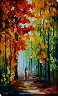 Picture Perfect International Giclee Stretched Wall Art by Leonid Afremov Morning in The Woods Artists-Canvas, 24