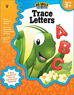 Carson Dellosa | Trace Letters Workbook | Preschool–Kindergarten, 32pgs (Big Skills for Little Hands®)