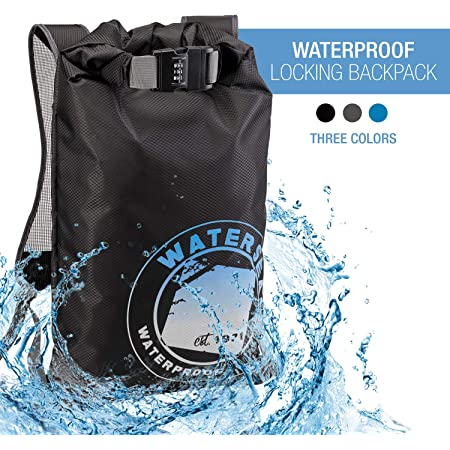 Camping Black One Size Pool WaterSeals with Ripstop Waterproof Material to Protect Wallet iPhone and Valuables at The Beach