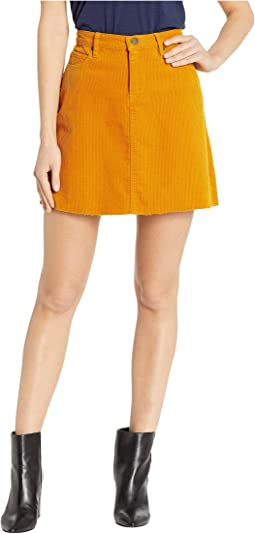 Corduroy Mini Skirt in Marigold