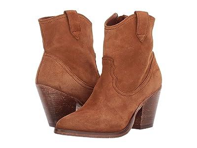 AllSaints Rolene Cowboy Ankle Boot (Suede Tan) Women