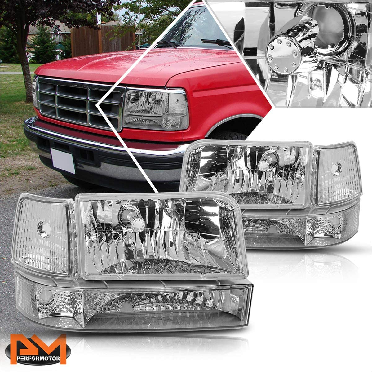 Headlight Assembly 出色 Compatible with お得 Ford F350 F150 92-96 F250 Hea