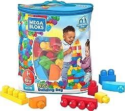 Mega Bloks First Builders Big Building Bag with Big Building Blocks, Building Toys for Toddlers (80 Pieces) - Blue Bag 3-5 years