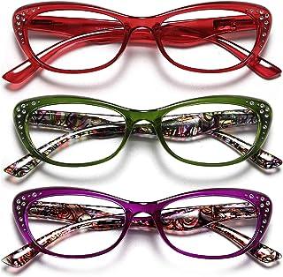 Reading Glasses Women Trendy Cat Eye Blue light Blocking Colorful Eyeglasses