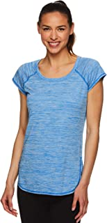 Women's Cap Sleeve Workout T-Shirt - Performance Tennis Gym & Exercise Activewear Top