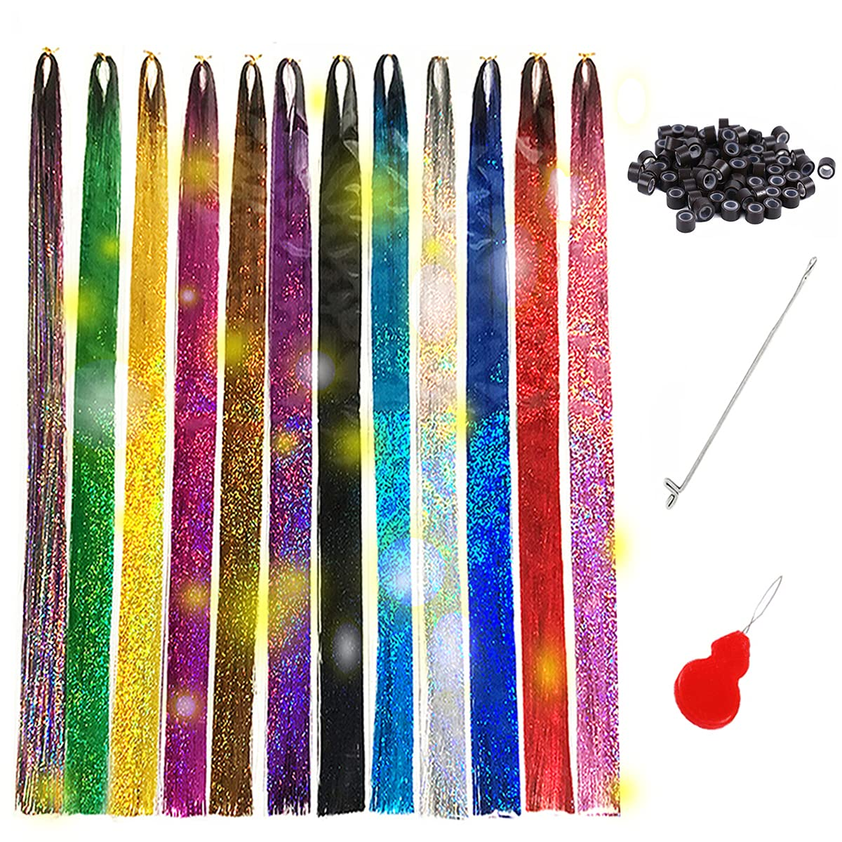 Tototoo Hair Tinsel 3000 Strands With Colors Inch 44 Tools mart 12 Fa New products, world's highest quality popular!