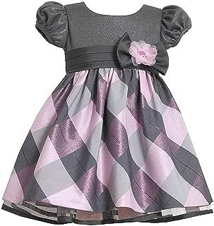 Girls' Short Sleeve Side Sash Ballerina Party Dress