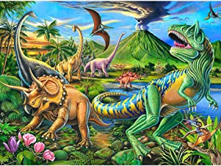 Puzzles for Kids Ages 4-8 Year Old,100 Piece Dinosaur Jigsaw Puzzle for Toddler Children Learning Educational Puzzles Toys...