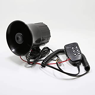 Took09 Motorcycle Car Auto Loud Air Horn 125dB Siren Sound Speaker Megaphone Alarm Van Truck Boat 50w 12v Six-tone
