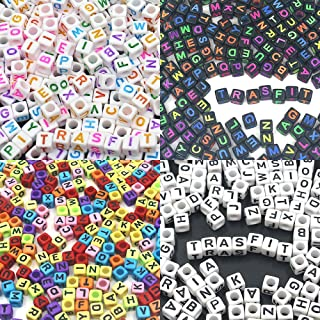 Trasfit 1200 Pieces 4 Color Acrylic Alphabet Letter