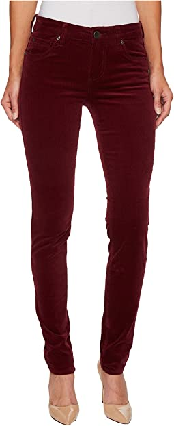 KUT from the Kloth - Diana Skinny Corduroy in Deep Burgundy