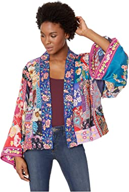 Adley Embroidered Lined Kimono