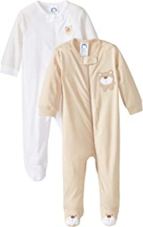 zip front one piece for baby