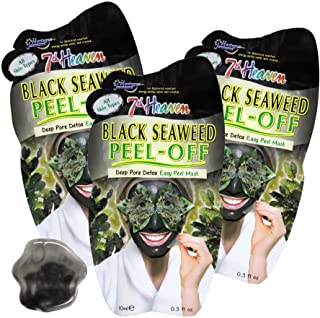 7th Heaven Seaweed Masks Easy Peel-Off Mask with Seaweed Helps you Detox your Pores For All Skin Types In 3-Pack of 0.3 fl...