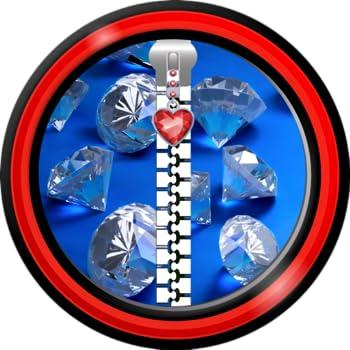 Zipper Lock Screen – Diamonds