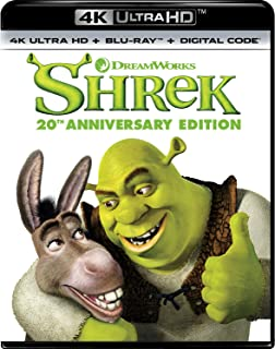 Shrek (4K Ultra Hd/Blu-Ray/Digital 20Th Anniversary Edition)